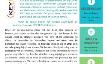 Inschrijving nieuw seizoen KISI KEY geopend!
